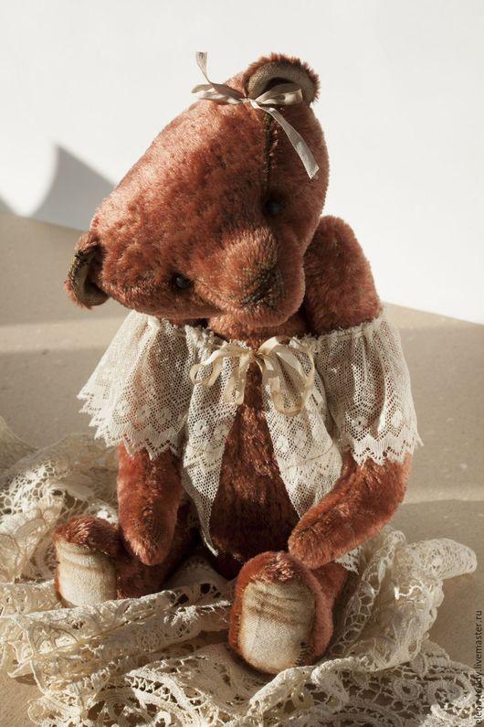 Мишки Тедди ручной работы. Ярмарка Мастеров - ручная работа. Купить Мишка девочка. Handmade. Разноцветный, тедди, Антикварный плюш