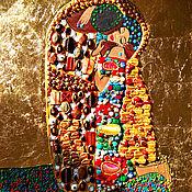 Картины и панно handmade. Livemaster - original item Black Afro american art original painting Kiss Gustav Klimt. Handmade.