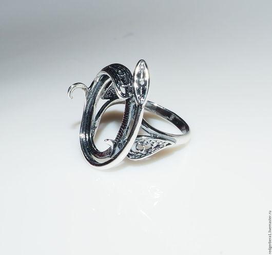"""Для украшений ручной работы. Ярмарка Мастеров - ручная работа. Купить Основа для кольца """"Руслана"""" - серебрение 925 пробы. Handmade."""