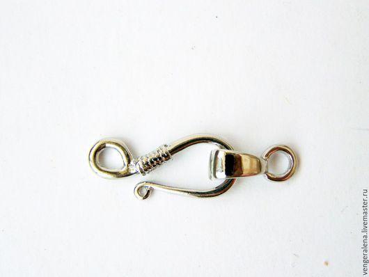 Для украшений ручной работы. Ярмарка Мастеров - ручная работа. Купить Крючок замочек с петелькой 31 мм серебро. Handmade.