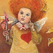 Картины и панно handmade. Livemaster - original item The little angel. Handmade.