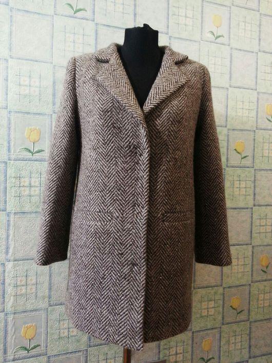 """Верхняя одежда ручной работы. Ярмарка Мастеров - ручная работа. Купить Пальто из итальянской """"елочки"""". Handmade. Пальто, пальтовая ткань"""