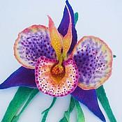 """Украшения ручной работы. Ярмарка Мастеров - ручная работа Брошь """"Орхидея в крапинку"""". Handmade."""