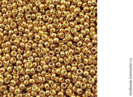 Для украшений ручной работы. Ярмарка Мастеров - ручная работа. Купить Бисер круглый Miyuki 4202 Duracoat Galvanized Gold, 11 размер. Handmade.