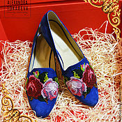 Обувь ручной работы handmade. Livemaster - original item Exclusive flats handmade beaded embroidered