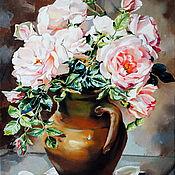 """Картины ручной работы. Ярмарка Мастеров - ручная работа Картины: """"Нежно розовые"""".. Handmade."""