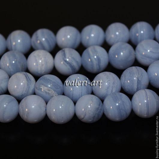 Для украшений ручной работы. Ярмарка Мастеров - ручная работа. Купить Бусины из сапфирина голубого агата. Handmade. Голубой