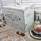 """Для дома и интерьера ручной работы. Ярмарка Мастеров - ручная работа """"Bread"""" монохром, хлебница. Handmade."""