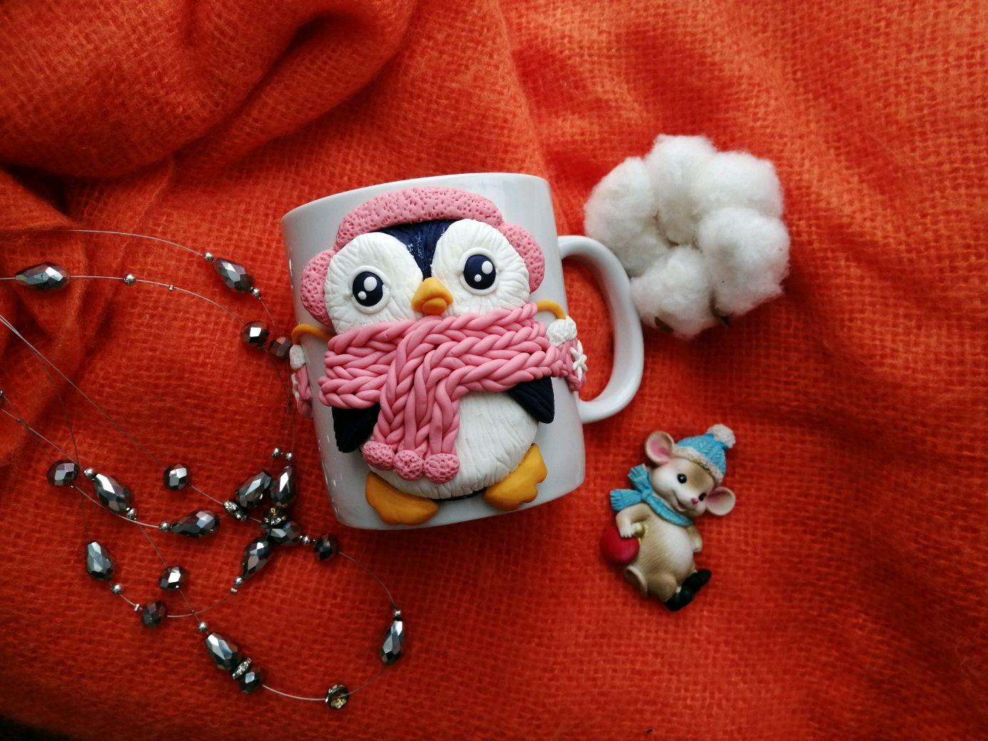 Кружка с декором - Пингвинёнок Лоло, Кружки, Кемерово,  Фото №1
