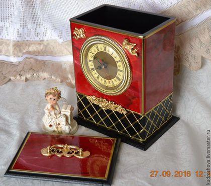 Часы для дома ручной работы. Часы настольные, часы каминные большие Шик. Вера Кудрешова (kudreshova). Ярмарка Мастеров.