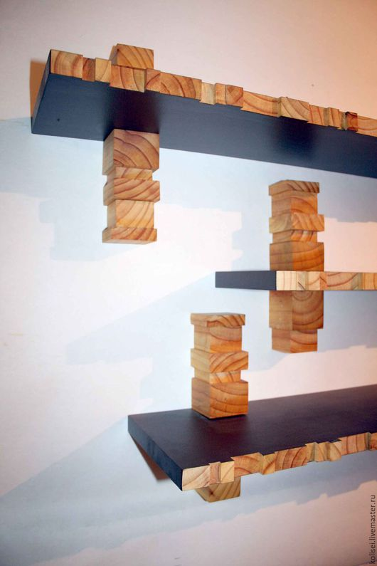 Мебель ручной работы. Ярмарка Мастеров - ручная работа. Купить полки дизайнерские. Handmade. Комбинированный, для дома и интерьера, настенный декор