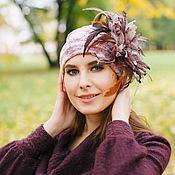 """Аксессуары ручной работы. Ярмарка Мастеров - ручная работа дизайнерская шапочка из бархата"""" Осень Бархатный Шик """". Handmade."""