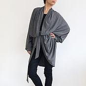 Одежда handmade. Livemaster - original item Cardigan womens Grey Long cardigan