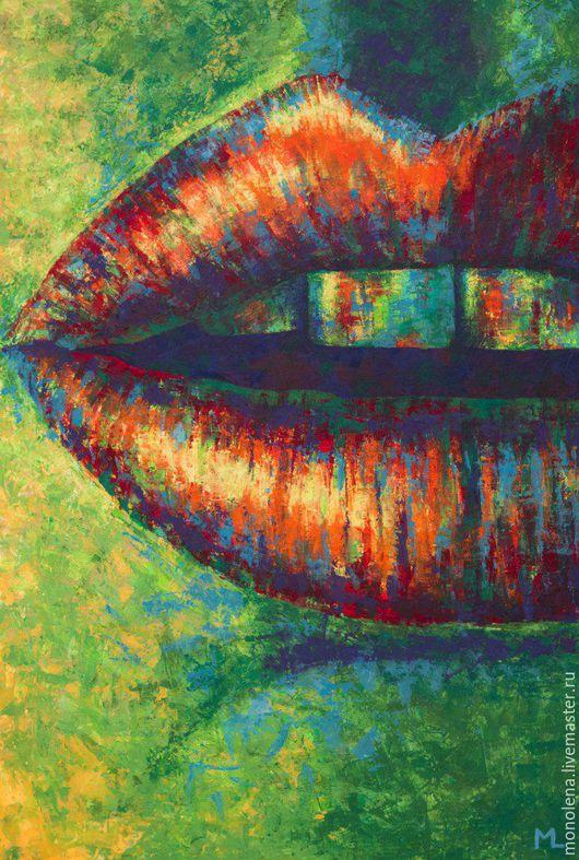 `Притяжение`. Акрил, текстурная техника, холст под лаком, галерейная натяжка, формат 60 на 90 см. MLart vk.com/monolena