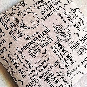 Текстиль ручной работы. Ярмарка Мастеров - ручная работа Подушка льняная, монохром. Handmade.