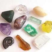 Минералы и камни коллекционные, кристаллы и галька