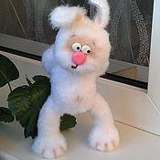 Куклы и игрушки ручной работы. Ярмарка Мастеров - ручная работа Печалька (зайка, вязаный заяц, вязаная игрушка, вязаный зайка). Handmade.