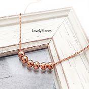 Украшения handmade. Livemaster - original item Necklaces small beads chain gold plated. Handmade.