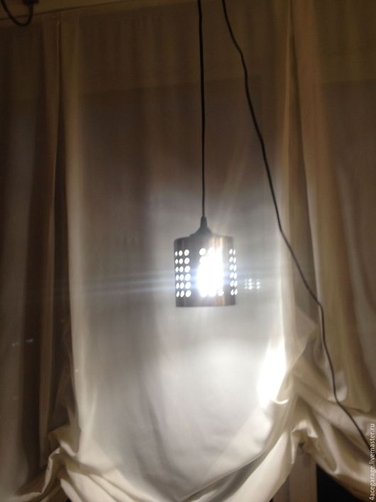 Освещение ручной работы. Ярмарка Мастеров - ручная работа. Купить Лампа подвес. Handmade. Серебряный, освещение, интерьер, провод