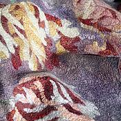 """Аксессуары ручной работы. Ярмарка Мастеров - ручная работа """"Пёстрые тюльпаны"""" шарф-палантин валяный. Handmade."""