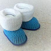 Обувь детская ручной работы. Ярмарка Мастеров - ручная работа Пинетки - сапожки. Handmade.