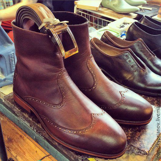 Обувь ручной работы. Ярмарка Мастеров - ручная работа. Купить Модель - Boots 1.0. Handmade. Коричневый, аксессуары