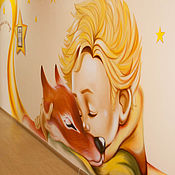 Декор ручной работы. Ярмарка Мастеров - ручная работа Роспись стен: Маленький принц. Handmade.