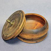 Винтаж ручной работы. Ярмарка Мастеров - ручная работа Шкатулка круглая, дерево. Handmade.