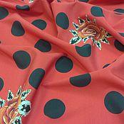 Материалы для творчества ручной работы. Ярмарка Мастеров - ручная работа Ткань шёлковый креп в горох. Handmade.