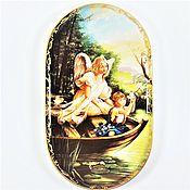 handmade. Livemaster - original item Porcelain decorative / wall plate, angel, Germany.. Handmade.