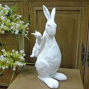 Заготовки для декупажа и росписи ручной работы. Ярмарка Мастеров - ручная работа Кролики семья керамика. Handmade.