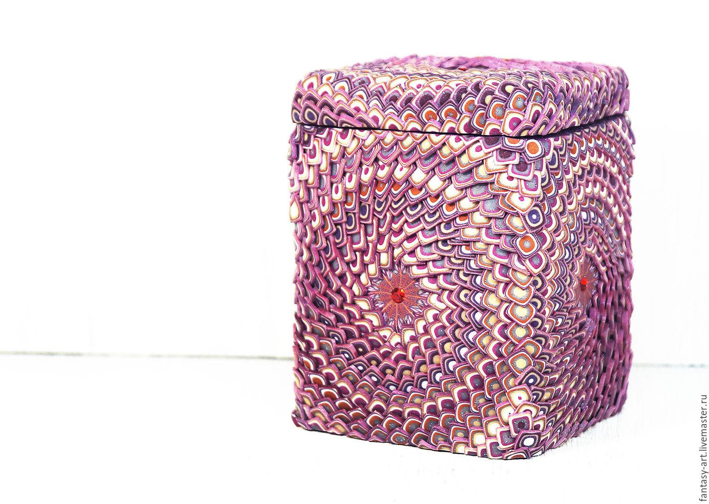 Box of polymer clay - Dragon of love (square, pink), Box, Tambov,  Фото №1