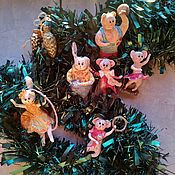 handmade. Livemaster - original item Christmas decorations set of circus performers strong man acrobats magician. Handmade.