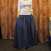Одежда ручной работы. Ярмарка Мастеров - ручная работа Макси- юбка в пол. Handmade.
