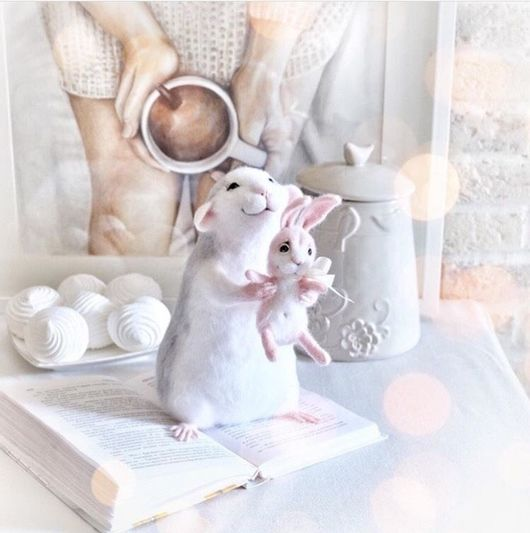 Игрушки животные, ручной работы. Ярмарка Мастеров - ручная работа. Купить Авторская игрушка Крыска. Handmade. Мышка, мыши, подарок