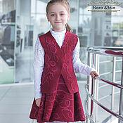 Работы для детей, handmade. Livemaster - original item Suit school time Bordeaux. Handmade.