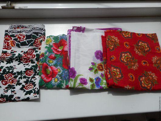 Реставрация. Ярмарка Мастеров - ручная работа. Купить платки винтажные. Handmade. Платок, хлопок
