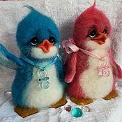 Мягкие игрушки ручной работы. Ярмарка Мастеров - ручная работа Пингвины Лоло и Пепе.. Handmade.