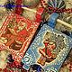 """Подарочные наборы ручной работы. Новогодние саночки """"Дед Мороз"""". Марина Бердникова 'Уют-Декор'. Ярмарка Мастеров. Новогодний подарок"""