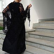 Аксессуары handmade. Livemaster - original item Shawl Picotte black cashmere / silk. Handmade.