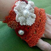 Украшения ручной работы. Ярмарка Мастеров - ручная работа Вязаный браслет- манжета в стиле бохо. Handmade.