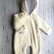 Комбинезоны ручной работы. Ярмарка Мастеров - ручная работа Комбинезон для малыша Мишка  62 размера. Handmade.