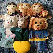 """Кукольный театр ручной работы. Ярмарка Мастеров - ручная работа Кукольный театр на руку. Сказка """"Репка"""". Handmade."""