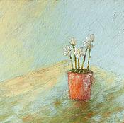Картины и панно ручной работы. Ярмарка Мастеров - ручная работа Горшочек цветов. Handmade.