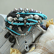 Украшения handmade. Livemaster - original item Jewelry BOHO chic suede with pearl