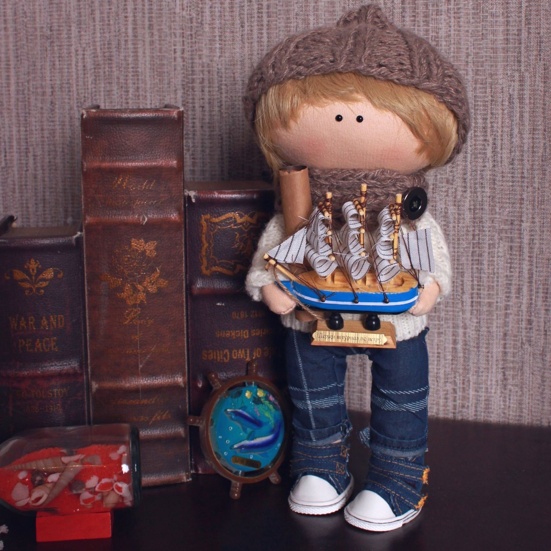 Текстильная интерьерная кукла мальчик мужчина юноша, Тыквоголовка, Санкт-Петербург,  Фото №1