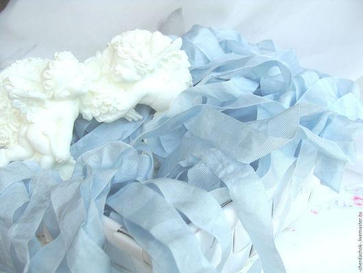 Открытки и скрапбукинг ручной работы. Ярмарка Мастеров - ручная работа. Купить Шебби-лента Льдисто-голубой. Handmade. Голубой