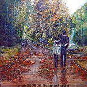 """Картины и панно ручной работы. Ярмарка Мастеров - ручная работа Картина """"Под дождем..."""". Handmade."""