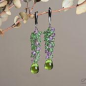 Украшения handmade. Livemaster - original item Long cluster earrings