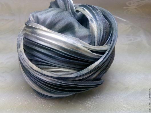 Для украшений ручной работы. Ярмарка Мастеров - ручная работа. Купить Ленты Шибори Silk Ribbons Shibori №98 Зебрина челка. Handmade.